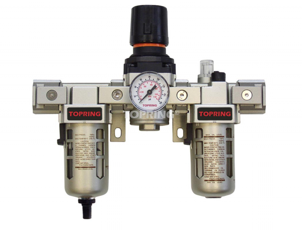 Filtre + régulateur + lubrificateur (manomètre inclus) 1/4 airflo 300 auto