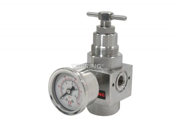 Régulateur (manomètre inclus) 1/4 airflo inox 200 (7-285)