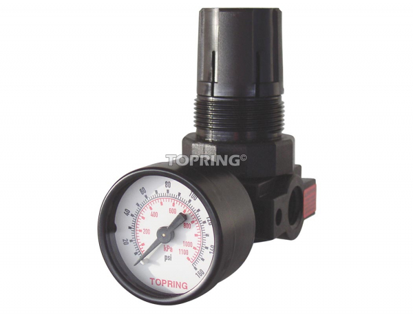 Hvlp air regulator 1/4 (f) npt 2-125 psi