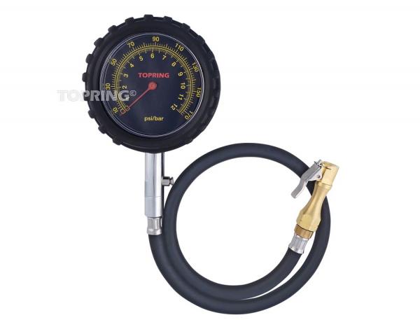 Tire gauge dial/clip-on 20'' 10-170 psi