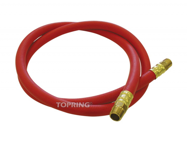 Connecting rubber hose for hose reel 3/8 x 5' x 3/8 (m) npt