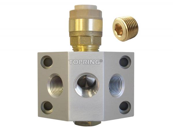 Aluminium manifold 15 mm x (2/3) 3/8 (f) npt quickline