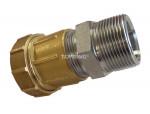 Male threaded connector 40 mm x 1-1/4 (m) npt metal quickline