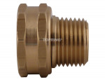 Male swivel fitting for water hose 3/4 (f) ght x 1/2 (m) npt