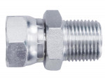 Swivel fitting connector 1/4 (f-m) npt steel