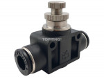 Speed controllers with flow control valve straight union 4 mm maxfit