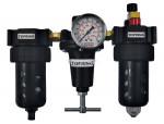 Filter + regulator + lubricator 1/4 automatic polycarbonate hiflo2