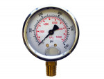 "Liquid gauge 2-1/2"" – 1/4 npt lm 0-1500 stainless steel/brass"