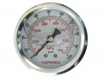 "Liquid gauge 2-1/2"" – 1/4 npt cbm 0-100 stainless steel/brass"