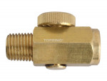 In-line air flow regulator 1/4 npt brass body maxpro