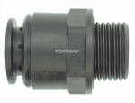 Male threaded connector 22 mm x 3/4 (m) bspp airline