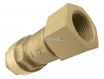 Female threaded connector 15 mm x 1/2 (f) npt metal quickline