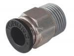 Male threaded straight connector 1/4 x 1/4 (m) npt  maxfit 100/cse