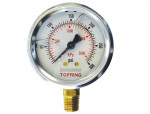"Liquid gauge 2-1/2"" – 1/4 npt lm 0-300 stainless steel/brass"