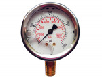 "Liquid gauge 2-1/2"" – 1/4 npt lm 0-2000 stainless steel/brass"
