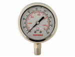 "Liquid gauge 2-1/2"" – 1/4 npt lm 0-160 stainless steel"