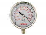 "Liquid gauge 2-1/2"" – 1/4 npt lm 30""hg stainless steel"