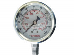 "Liquid gauge 2-1/2"" – 1/4 npt lm 0-100 stainless steel"