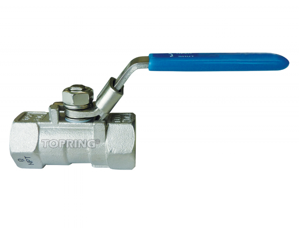 Ball valve stainless steel reduced flow 1/4 – 2 npt lockout 1-1/2 (f-f) npt red. port