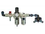Filter/regulator + lubricator unit + manifold 20 mm quiksilver (2) 20.686 pps crn