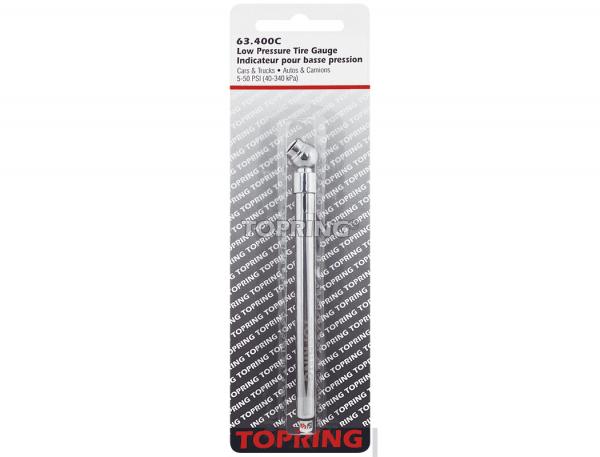 Tire gauge 5-50 psi pencil type