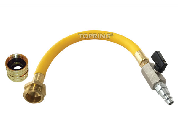 Water blowout adapter kit with female and male connector