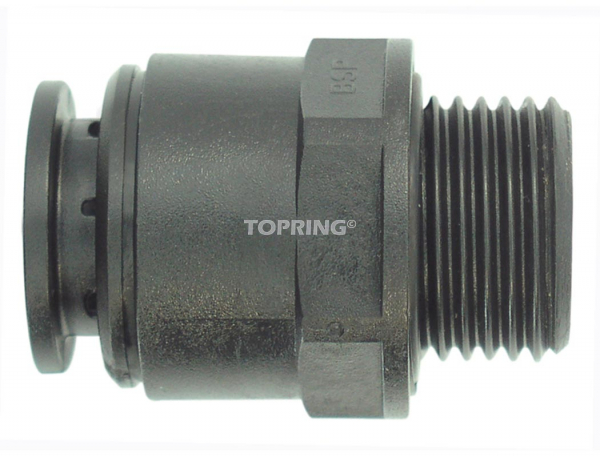 Male threaded connector 15 mm x 1/2 (m) bbsp airline