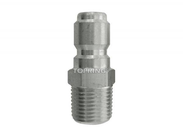 Plug hydraulic (straight through) 1/2 (m) npt stainless steel