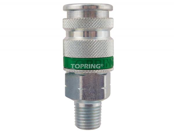 Coupler quiksilver (ultraflo) (automatic) 1/4 (m) npt