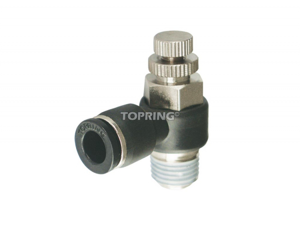 Speed controllers with flow control valve threaded elbow 6 mm x 1/4 (m) bspt mo maxfit