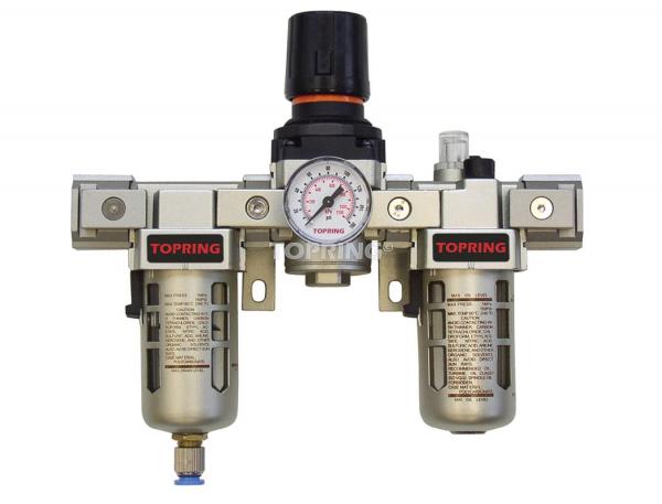 Filtre + régulateur + lubrificateur (manomètre inclus) 1/4 airflo 300 semi auto