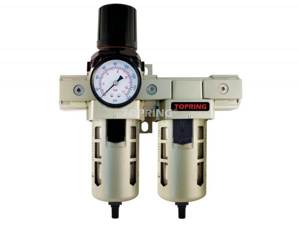 Filtre/régulateur+filtre coalescent (manomètre inclus) 1/2 airflo 400 auto