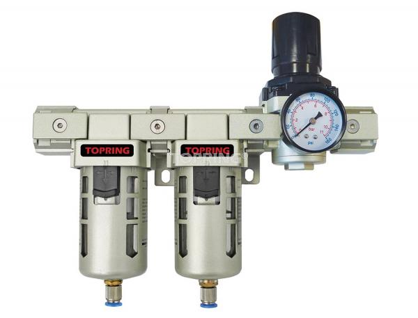 Filtre+filtre coalescent+régulateur 1/2 airflo 400 semi auto
