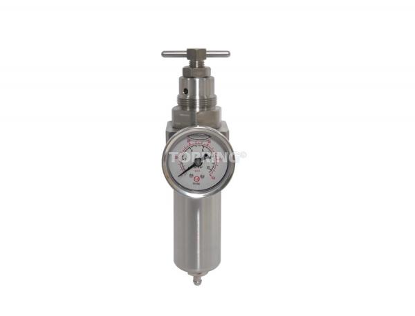 Filtre/régulateur (manomètre inclus) 1/4 airflo inox 200 semi auto