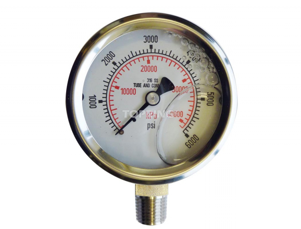 "Liquid gauge 4"" – 1/4 npt lm 0-6000 stainless steel"
