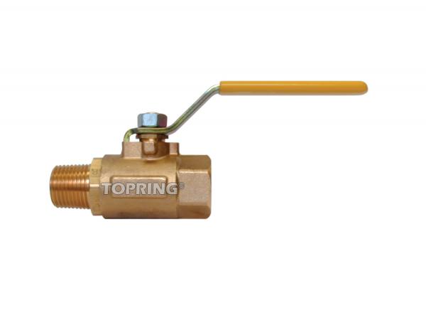 Brass ball valve full flow 3/8 (m-f) npt