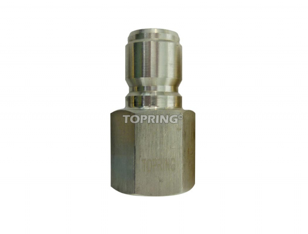 Plug hydraulic (straight through) 1/4 (f) npt stainless steel