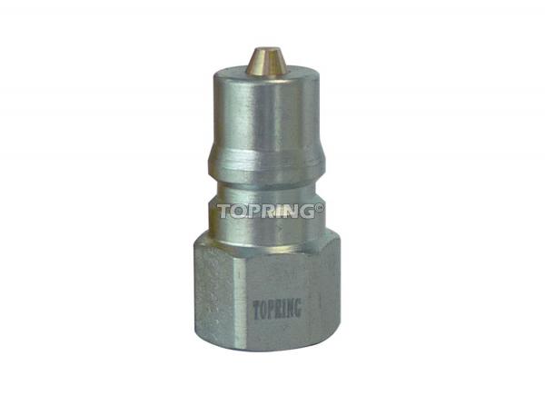 """Plug hydraulic (iso """"b"""") 3/4 (f) npt steel"""