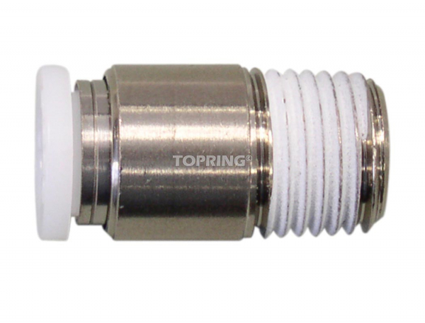 Hexagonal threaded connector 3/8 x 1/4 (m) npt topfit