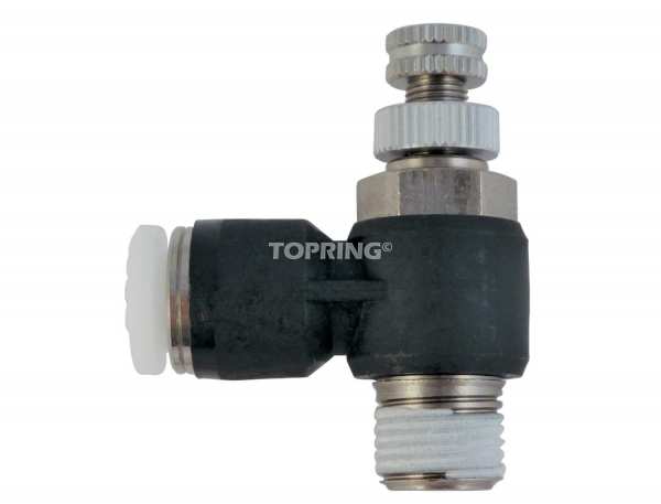 Threaded elbow speed controllers – without flow control valve 3/8 x 3/8 (m) npt topfit