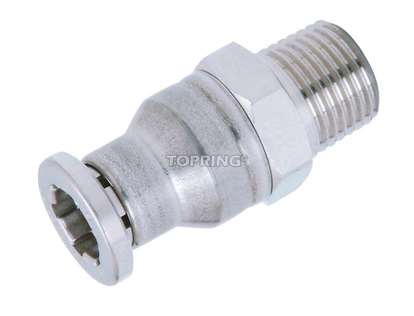 Male threaded connector 4 mm x m5male stainless steel topfit
