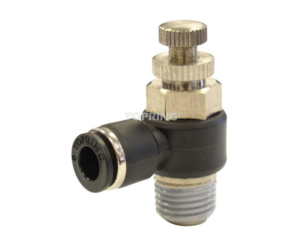 Threaded elbow speed controllers with flow control valve 1/2 x 1/2 (m) npt out maxfit