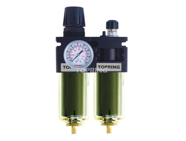 Filter/regulator+lubricator 1/2 maxi auto zinc+transp