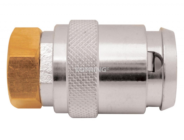 Air chuck lock-on large bore 1/4 (f) npt closed