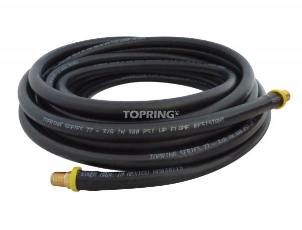 "Hose rubber ""lock-on? 1/4 x 15' x 1/4 (m) npt topflex"