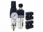 Filter/regulator+lubricator 1/4 mini auto polyurethane