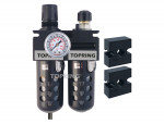 Filter/regulator+lubricator 1/4 medium manual polyurethane
