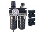 Filter/regulator+lubricator 1/4 medium auto polyurethane