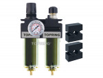 Filter/regulator+lubricator 1/2 medium manual zinc+transp