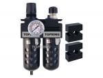 Filter/regulator+lubricator 1/2 maxi auto polyurethane
